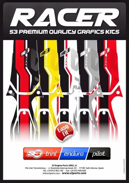 S3 RACER プレミアムクオリティーグラフィックKIT